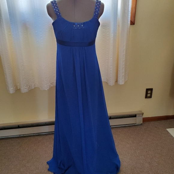 David's Bridal Dresses & Skirts - Royal Blue Prom Gown